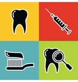 Dentistry medical black icons with white stroke vector image