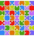 Jigsaw puzzle color parts template 7x7 pieces vector image