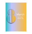 8 march greeting card template international vector image vector image