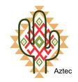 aztec cactus graphic printable boho vector image vector image