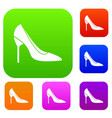 bride shoes set collection vector image vector image