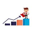 businessman search engine optimization vector image vector image