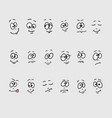 cartoon faces emotions vector image vector image