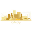 cebu city skyline golden silhouette vector image vector image