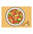 chicken stew vector image vector image
