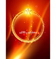 christmas ball design vector image vector image