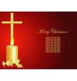 christmas candle art vector image