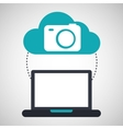 cloud computing camera social media virtual icon vector image vector image