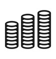 coin stack money icon simple style vector image vector image