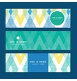 colorful fabric ikat diamond horizontal vector image vector image