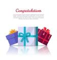 Congratulations Conceptual Web Banner in Flat vector image vector image