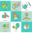 Creative Concept Colored Icons vector image vector image