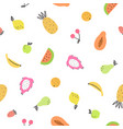 cute bright fruits vector image vector image