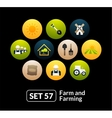 Flat icons set 57 - farm and farming vector image vector image