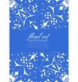 Floral elements ornate background vector image vector image