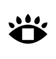 frame eye looks in blank square black vector image vector image
