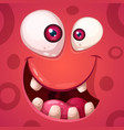 funny cute crazy monster characters halloween vector image