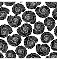 Graphic seashell pattern vector image vector image