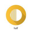 half flat design long shadow icon vector image vector image