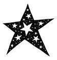hand drawn star vector image vector image