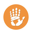 Hand imprint seamless vector image vector image