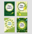 happy sukkot set of flyers or posters sukkot vector image vector image