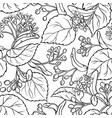 linden seamless pattern vector image vector image