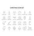 line icons set christmas pack vector image vector image