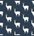 llama in christmas costume seamless pattern vector image vector image