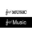 logo for music school subject vector image vector image