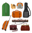 luggage with handle animal cage leather purse vector image vector image