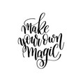 make your own magic brush ink hand lettering vector image vector image