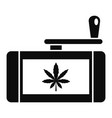 marijuana grinder icon simple style vector image vector image