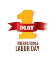 May 1st Labor Day background on white vector image