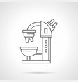 microscope flat line icon vector image vector image
