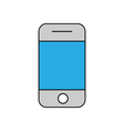 Mobile phone outline icon Linear vector image
