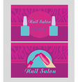 Nail Salon design of business cards vector image vector image