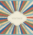 old vintage abstract background vector image vector image