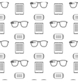 Pattern of smart devices on white vector image