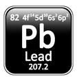 Periodic table element lead icon