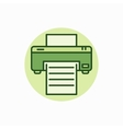 Printer green icon vector image