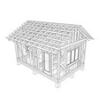 private house sketch vector image vector image
