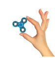 realistic 3d silhouette of hand with spinner vector image vector image