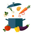 recipe vegetarian vegetable soup vector image