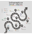 Road infographic timeline element layout vector image vector image