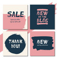 sale new on the blog thank you new - banners vector image