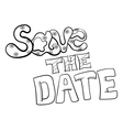 Save The Date Black Text vector image