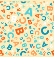 seamless pattern - different letters abc vector image vector image