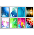 set abstract modern backgrounds for flyer vector image