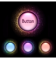 set of bright color shiny buttons vector image vector image